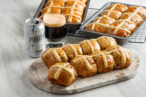 OG Stout Hot Cross Buns