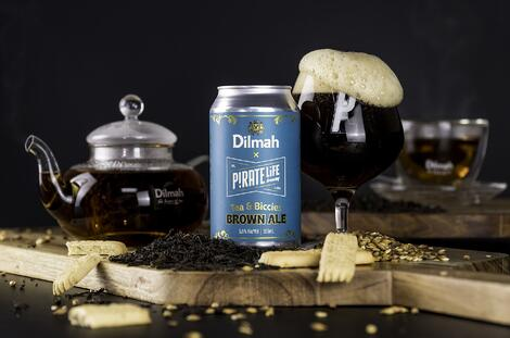 DILMAH × PIRATE LIFE = TEA & BICCIES BROWN ALE. DO TRY IT!