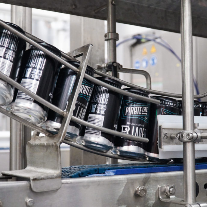 Canning the Port Adelaide Football Club's Commemorative Lager Can